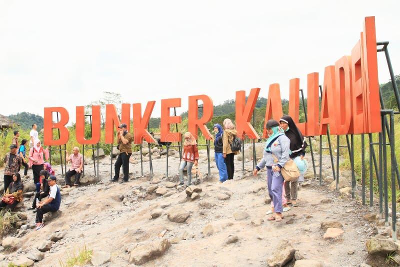 Бункер Kalidem вулканом Merapi стоковые изображения rf