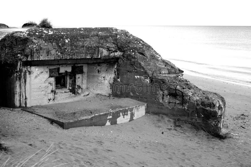 Бункер WW2 Германии, пляж Юты стоковое фото