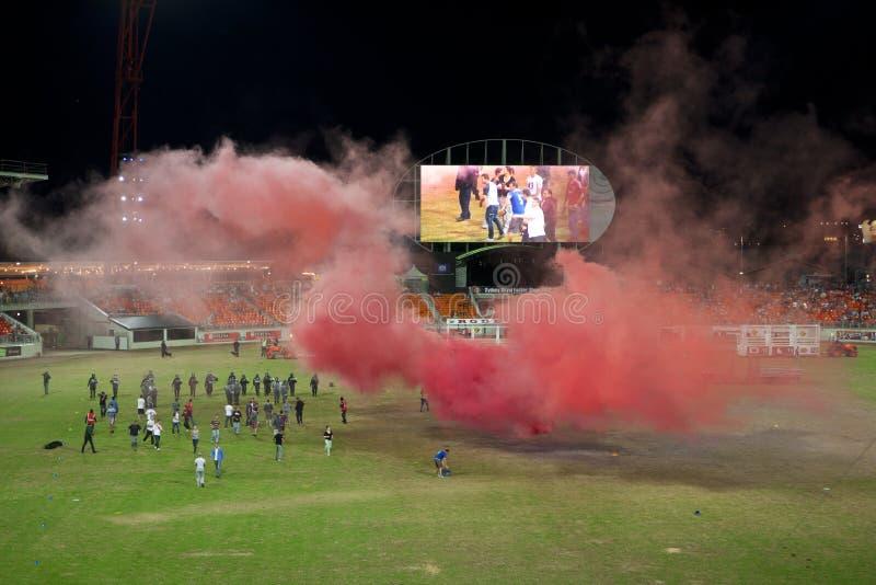 бунт хулигань футбола стоковые фотографии rf
