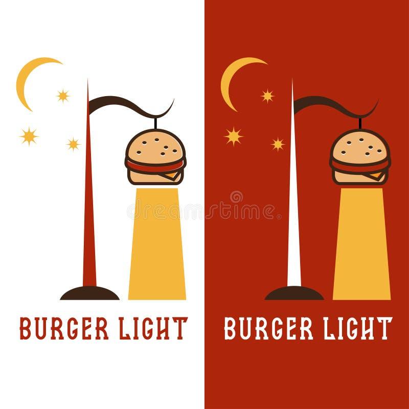 Бургер в форме дизайна вектора фонарика иллюстрация штока