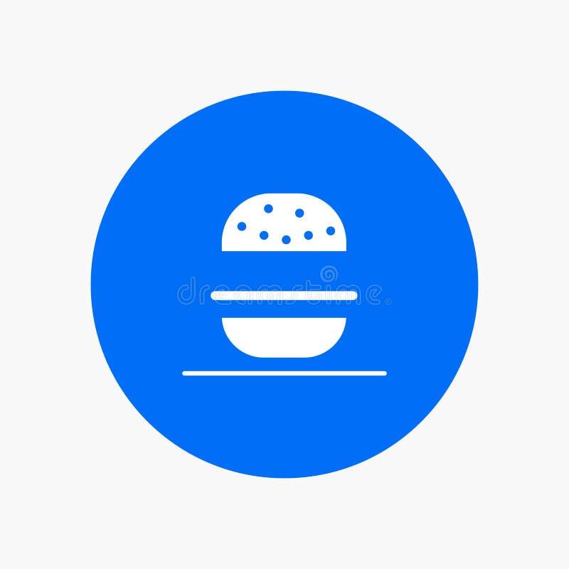 Бургер, ест, американский, США иллюстрация вектора