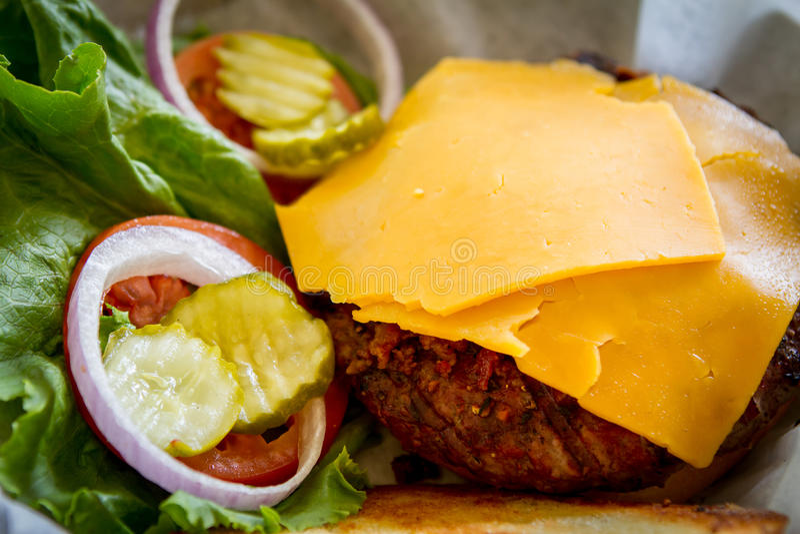 Бургер лося 1/2 LB стоковое изображение rf