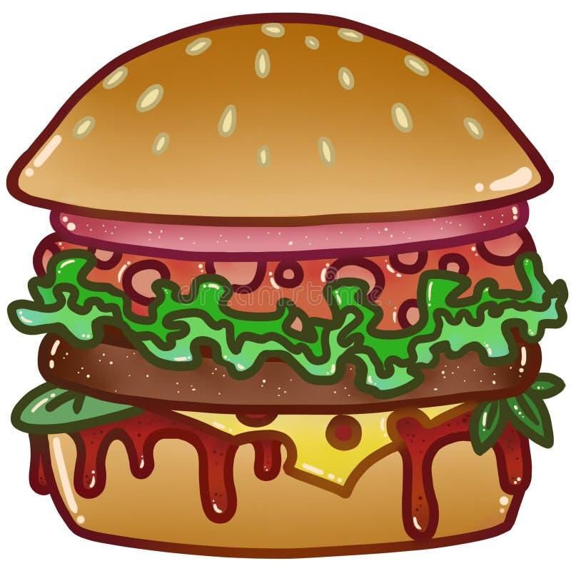 Бургер royalty free illustration