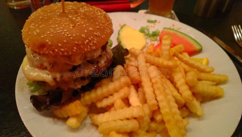Бургер Quattro стоковые фотографии rf