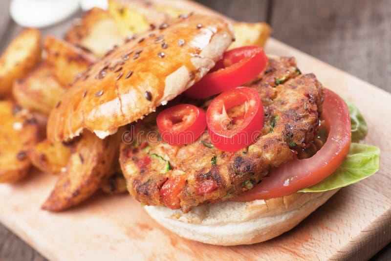 Бургер Vegan стоковое изображение