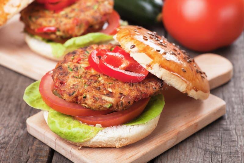 Бургер Vegan стоковые фотографии rf