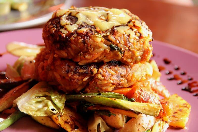 Бургер Veggie стоковая фотография rf