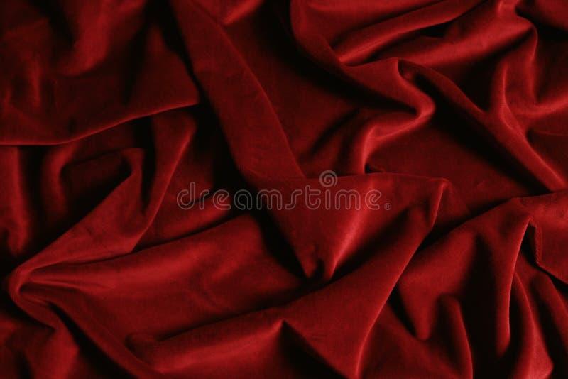 Бургундская покрашенная ткань бархата для пользы в графических исследованиях стоковые изображения rf