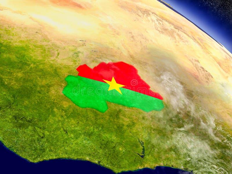 Download Буркина Фасо с врезанным флагом на земле Иллюстрация штока - иллюстрации насчитывающей реалистическо, земля: 81803329