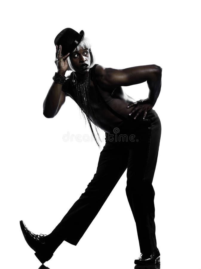 Бурлеск кабара танцы танцора человека стоковое фото rf