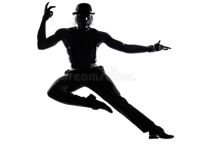 Бурлеск кабара танцы танцора человека стоковые изображения