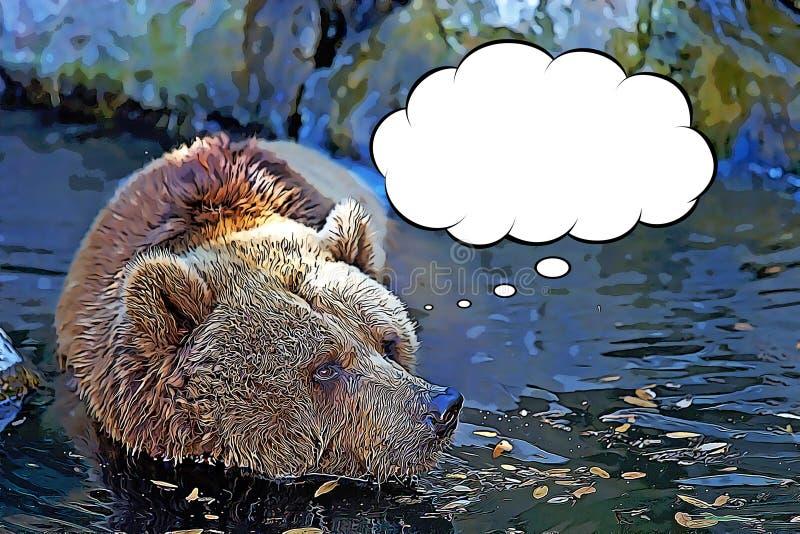 Бурый медведь ( Ursus arctos) шарж бесплатная иллюстрация