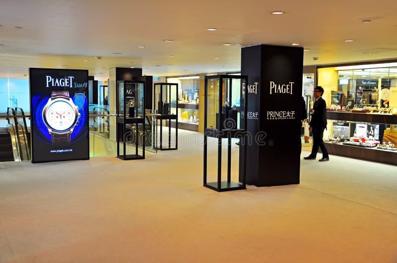 Бутик Piaget в Hong Kong стоковая фотография