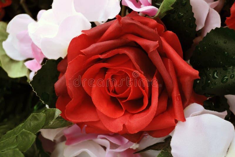 Бутон искусственных цветков Фото цвета стоковые изображения