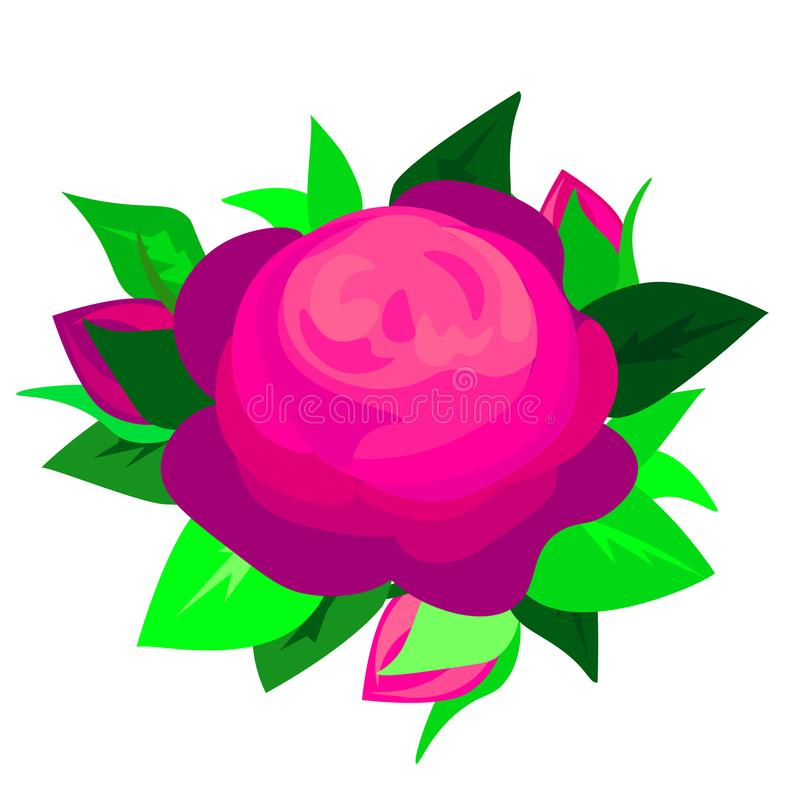 Бутон цветка сети пурпурный голубой розовый, сексуального и красивых и розовых изолированный на белой предпосылке r иллюстрация вектора