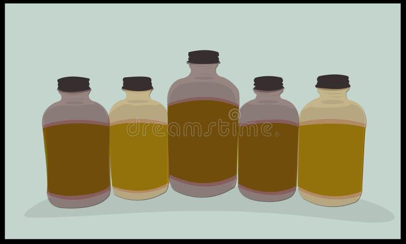 Бутылка видимой иллюстрации стеклянная стоковые фото
