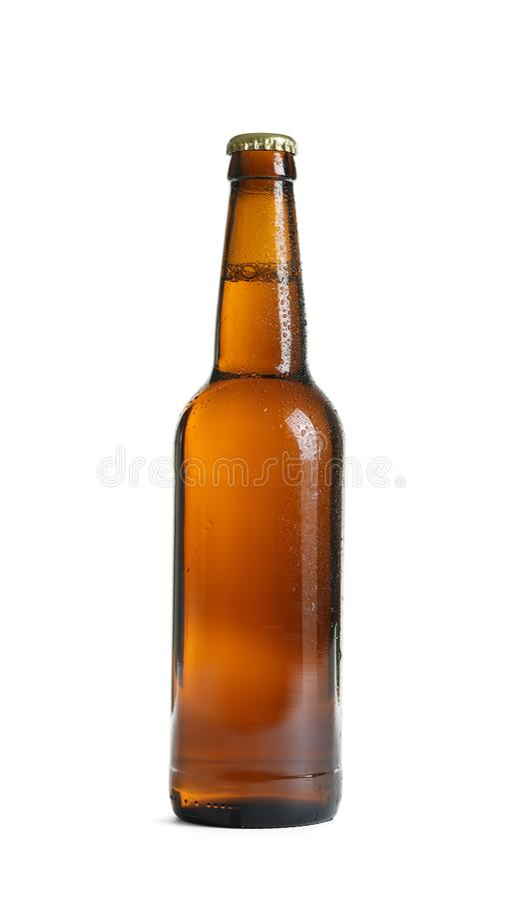 Бутылка вкусного холодного пива стоковое фото rf