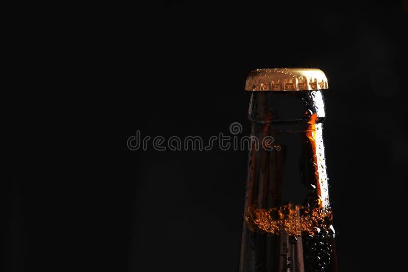 Бутылка вкусного холодного пива стоковые изображения rf