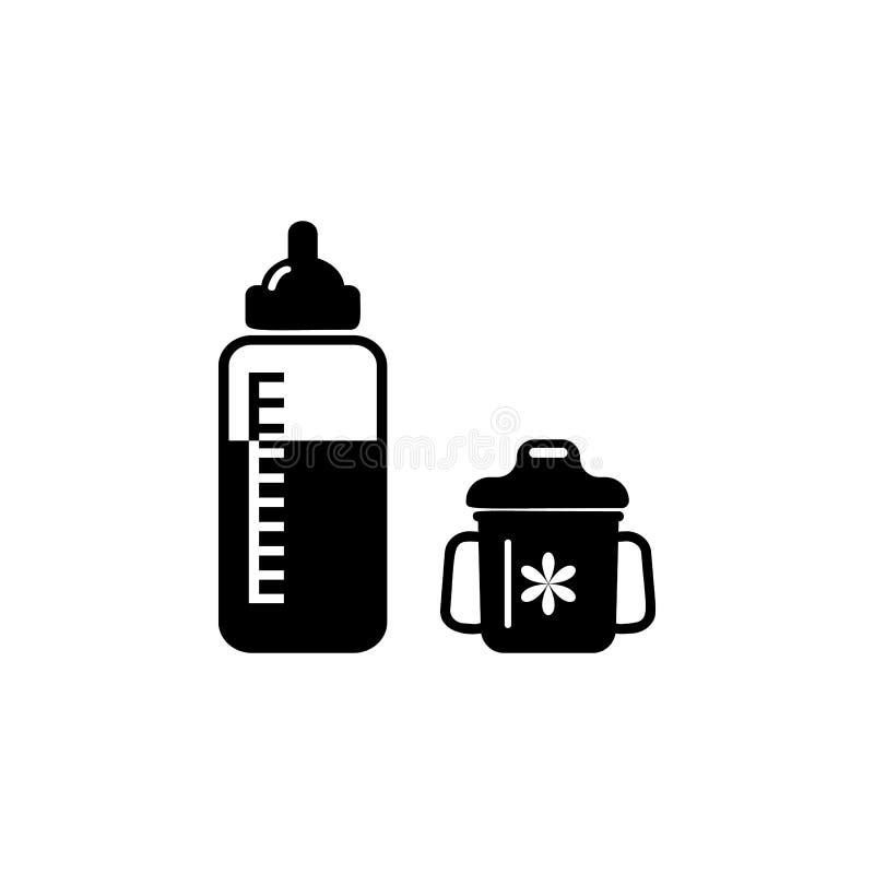 бутылка для подавать значок ребенка Элемент значка младенца Наградной качественный графический дизайн Знаки и значок собрания сим бесплатная иллюстрация