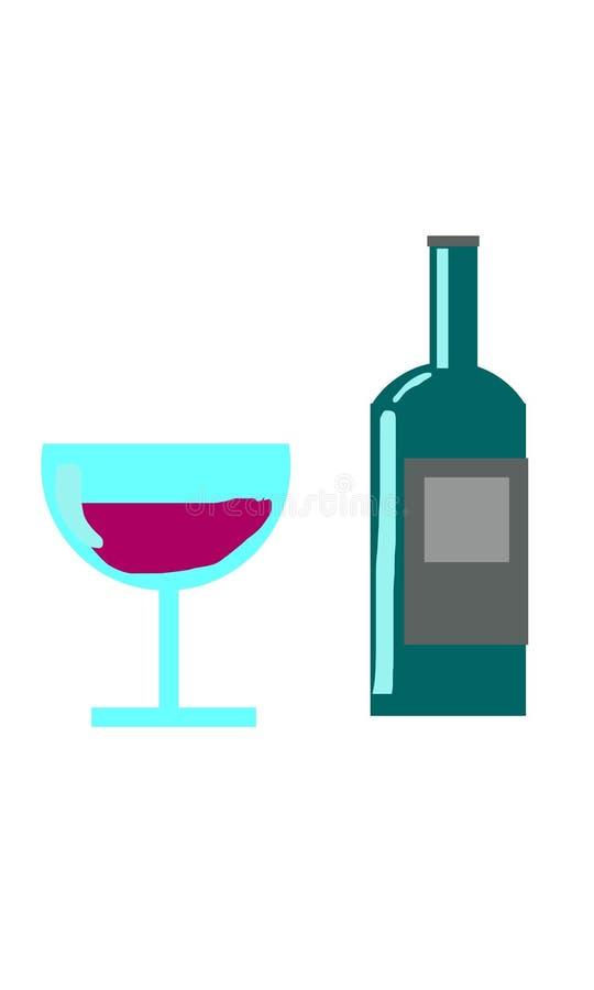 Бутылка и стекло стоковая фотография