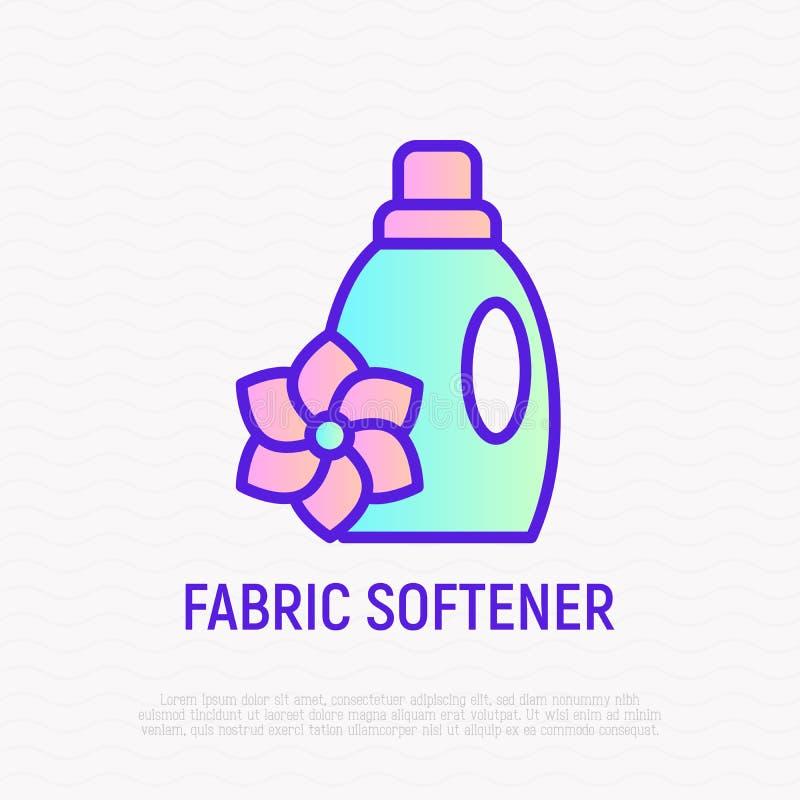 Бутылка линии значка умягчителя ткани тонкой бесплатная иллюстрация