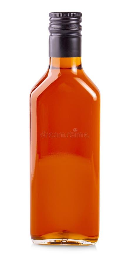 Бутылка масла крушины моря изолированного на белой предпосылке стоковые фотографии rf