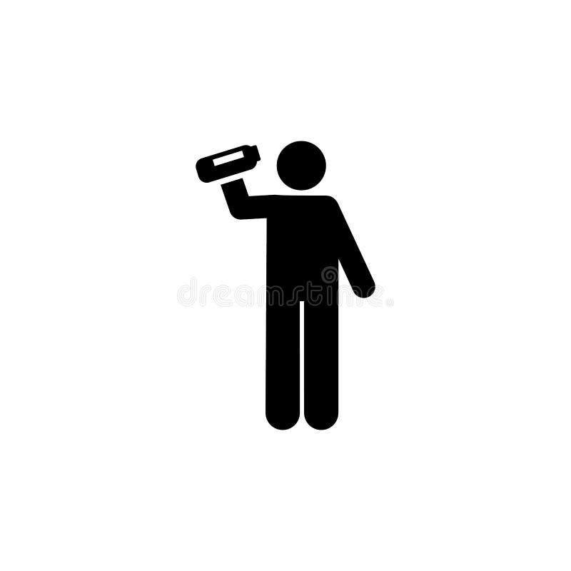 Бутылка, напиток, значок человека Элемент человека со случайным значком объекта r Знаки и собрание символов бесплатная иллюстрация