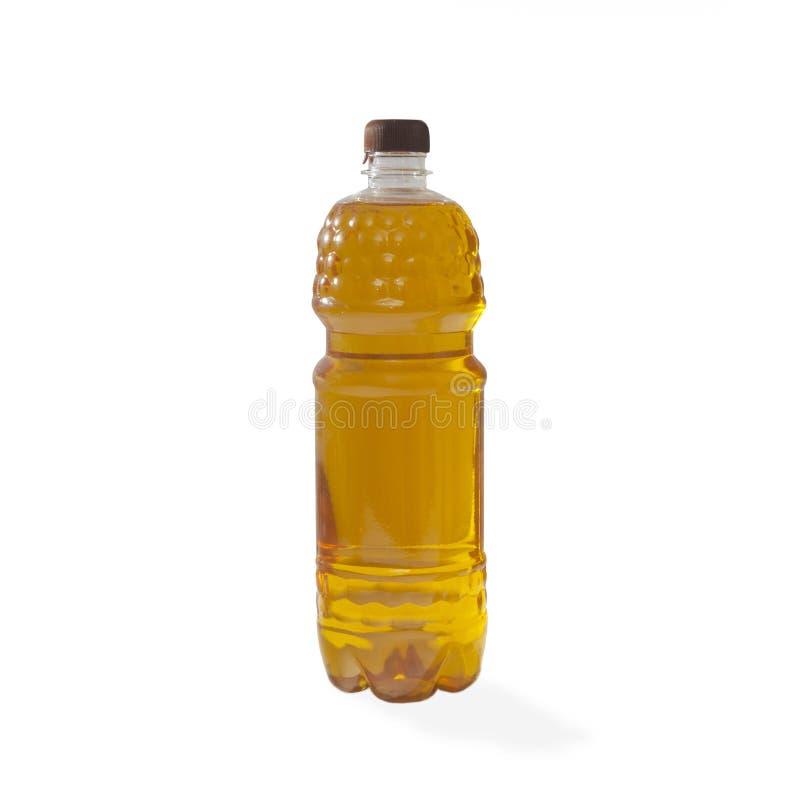 Бутылка подсолнечного масла изолированная на белой предпосылке стоковые фото