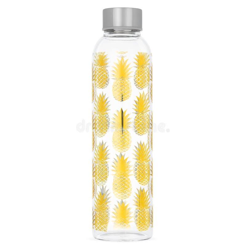 Бутылка с водой ананаса стоковые изображения