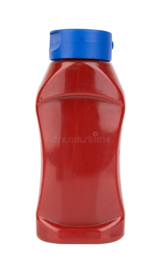 Бутылка томатного соуса стоковое изображение
