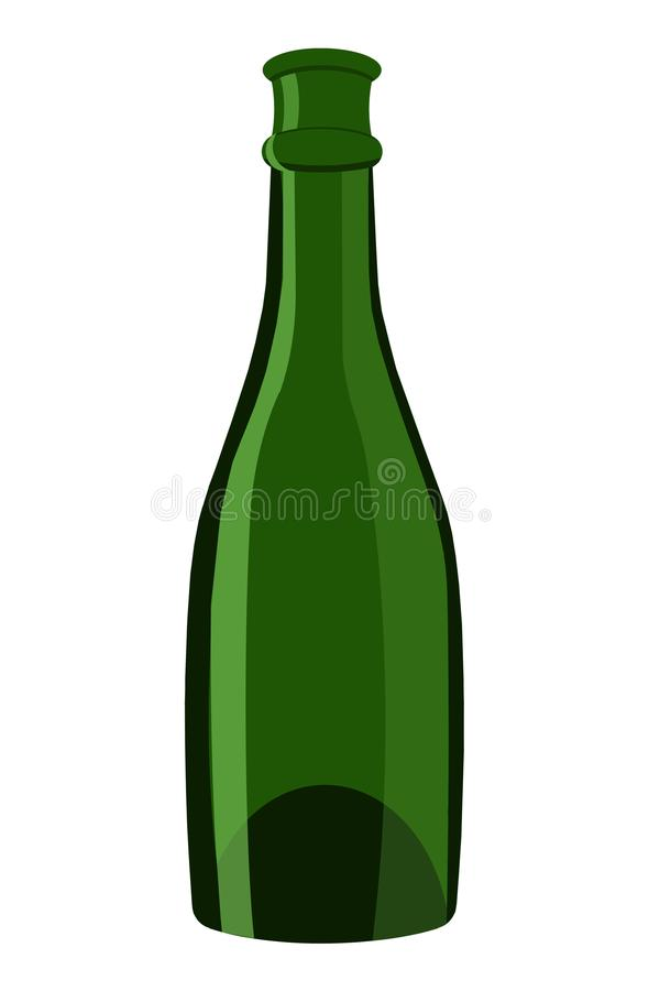 Бутылка шампанского иллюстрация стоковое фото rf