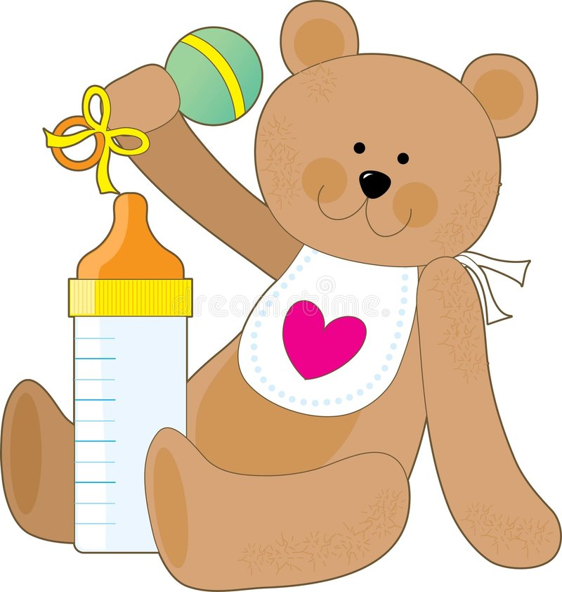 бутылка bib младенца иллюстрация вектора