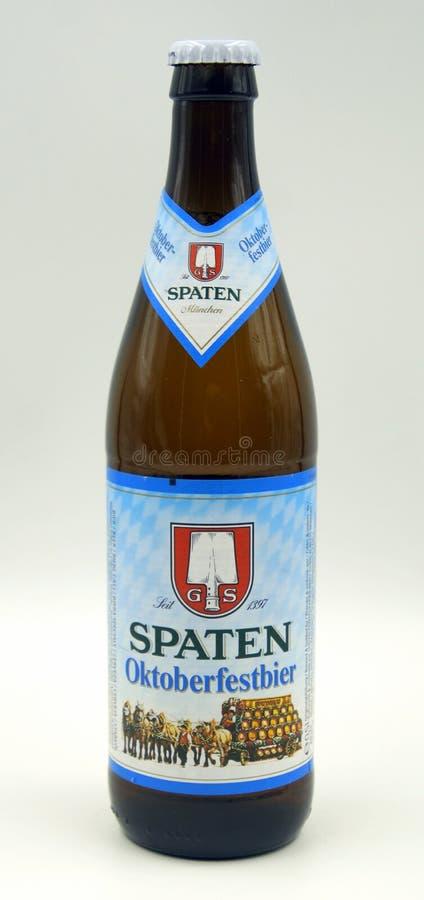 Бутылка Spaten Oktoberfestbier стоковая фотография rf