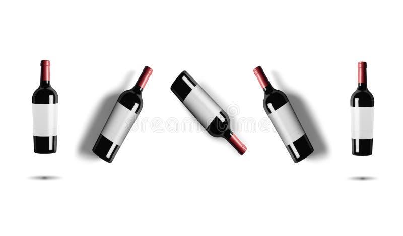 бутылки изолировали белое вино стоковые изображения rf