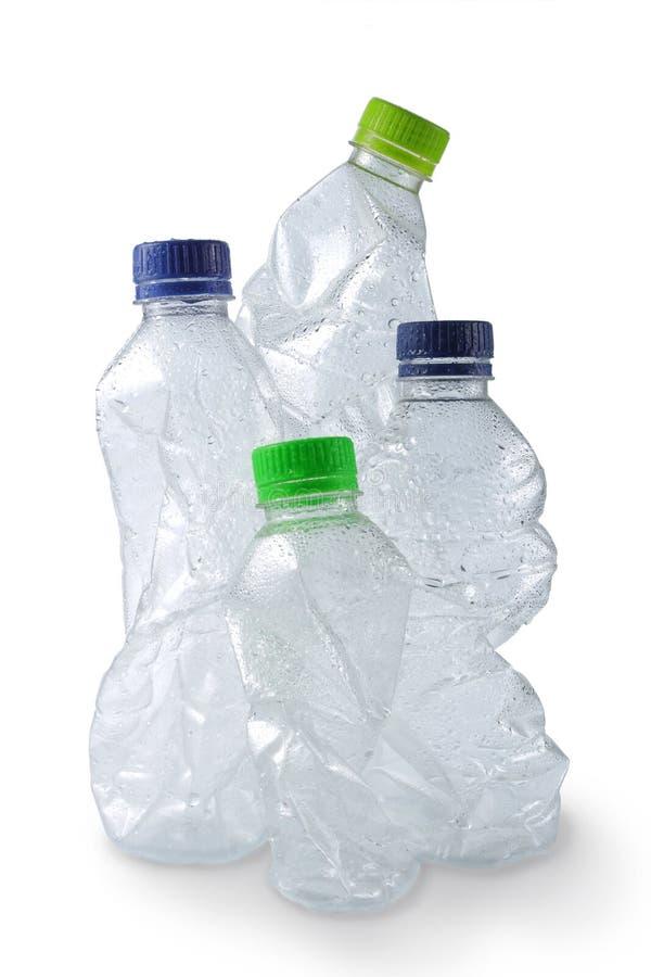 бутылки опорожняют используемую пластмассу стоковое изображение rf