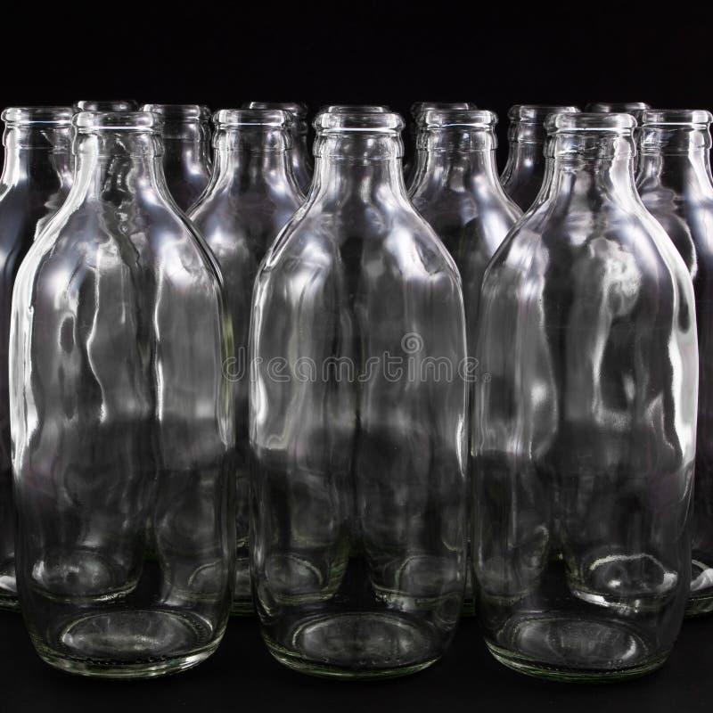 бутылки опорожняют стоковое изображение rf