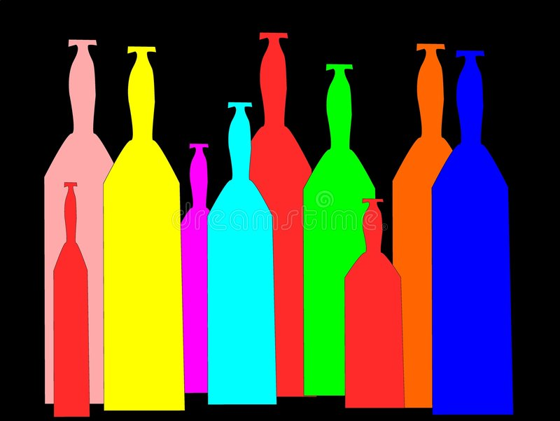 бутылки стоковое изображение rf