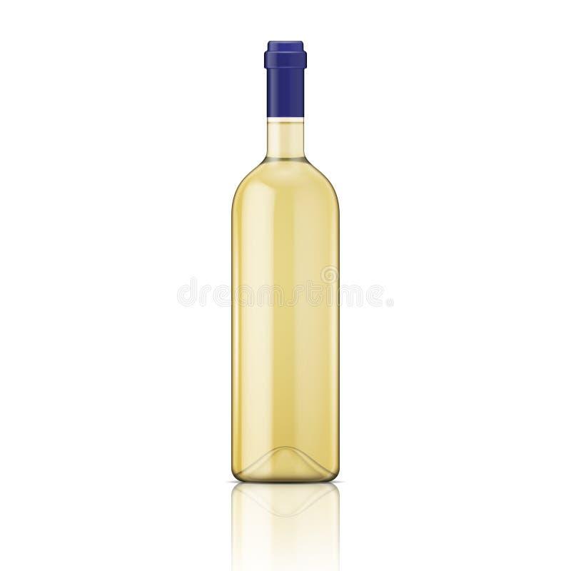 Бутылка белого вина. бесплатная иллюстрация