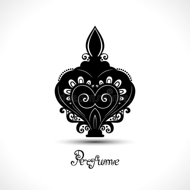 Бутылка вектора декоративная богато украшенная дух бесплатная иллюстрация