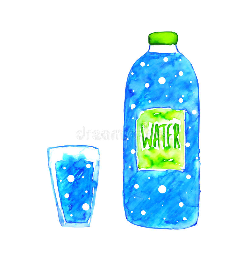 Бутылка воды иллюстрация штока