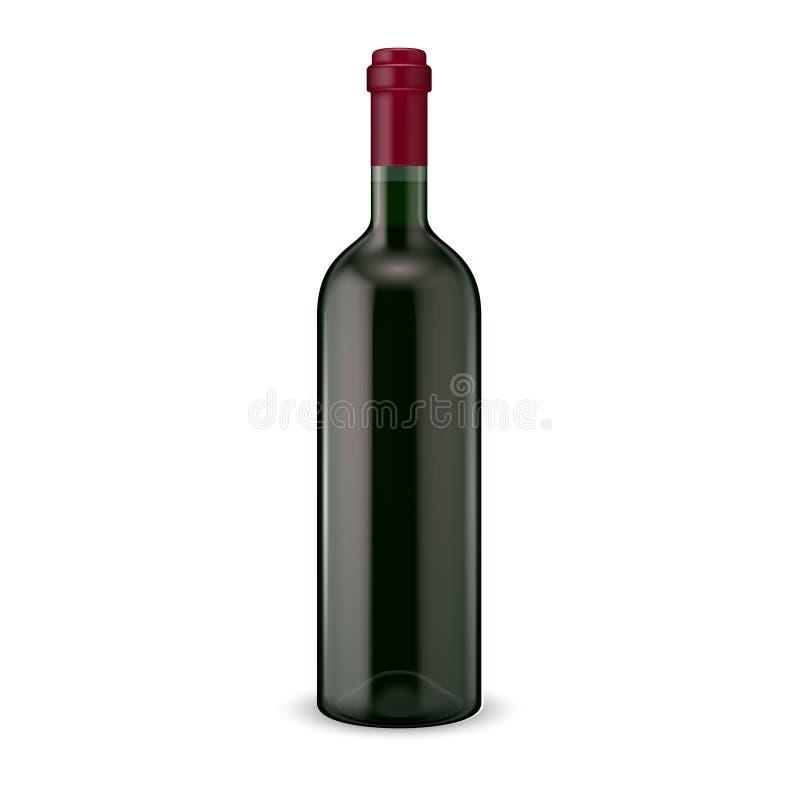 Бутылка красного вина. иллюстрация штока