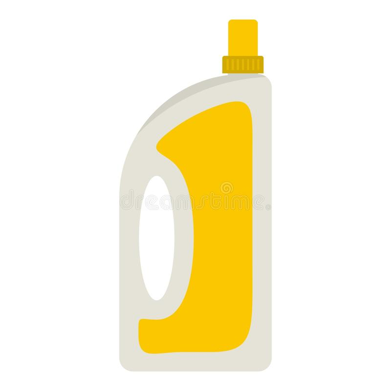 Бутылка подготовлять или детержентный значка иллюстрация штока