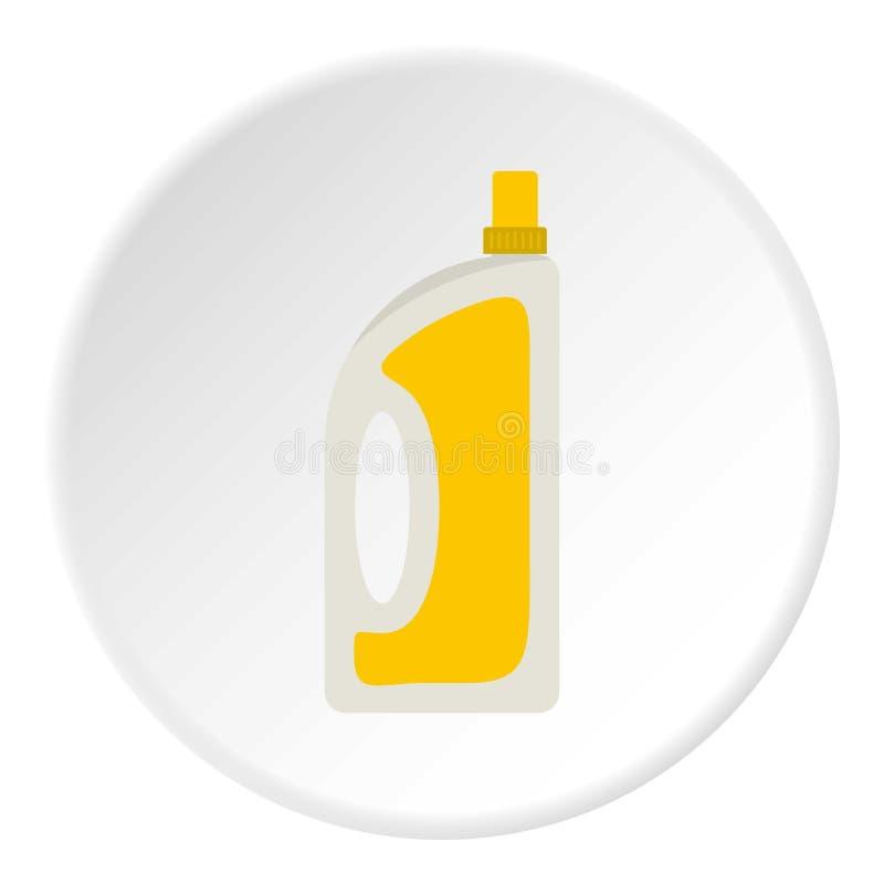 Бутылка подготовлять или детержентный круга значка бесплатная иллюстрация