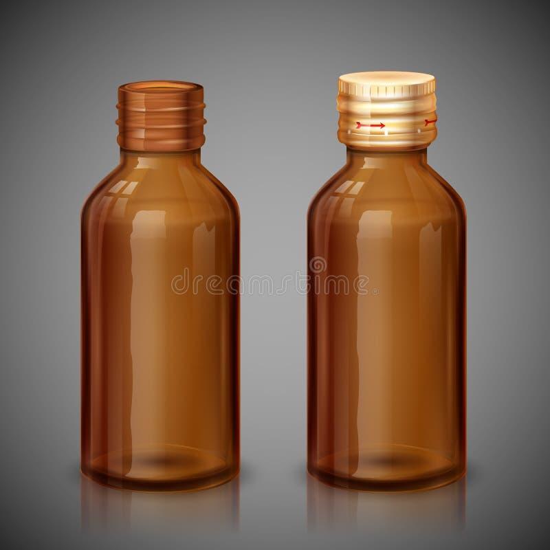 Бутылка сиропа медицины иллюстрация вектора