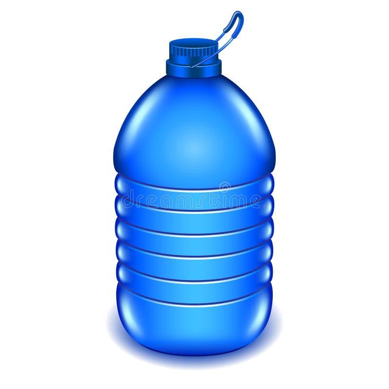 Бутылка с водой 5 литров пластичная изолированная на белом векторе иллюстрация штока