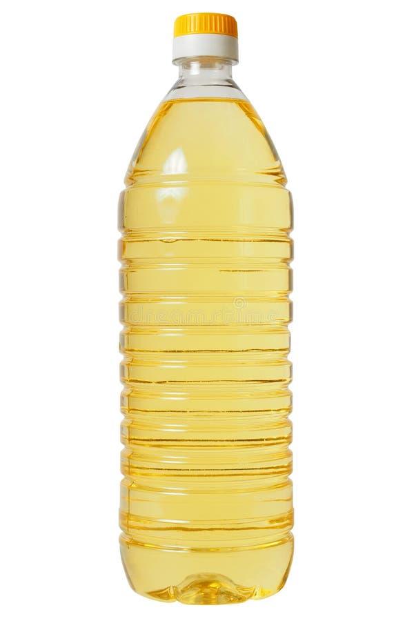 Бутылка с подсолнечным маслом стоковые изображения