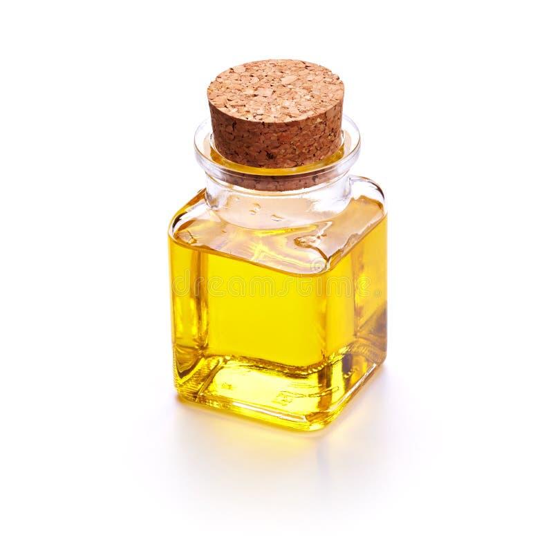 Бутылка с подсолнечным маслом стоковые фотографии rf