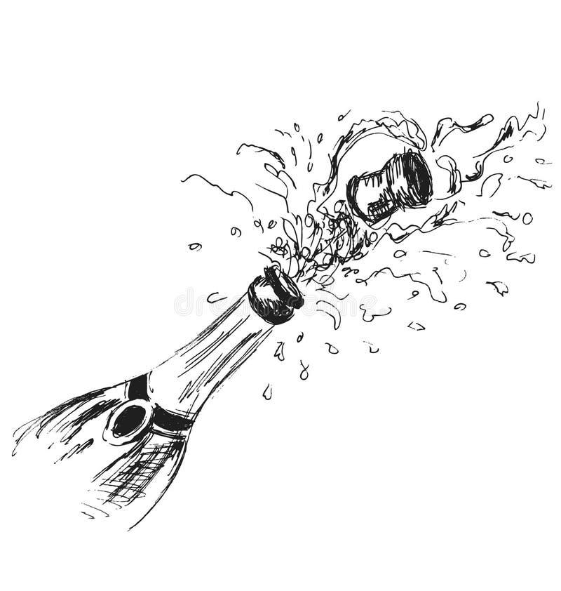 картинки шампанского карандашом фотографии пизд