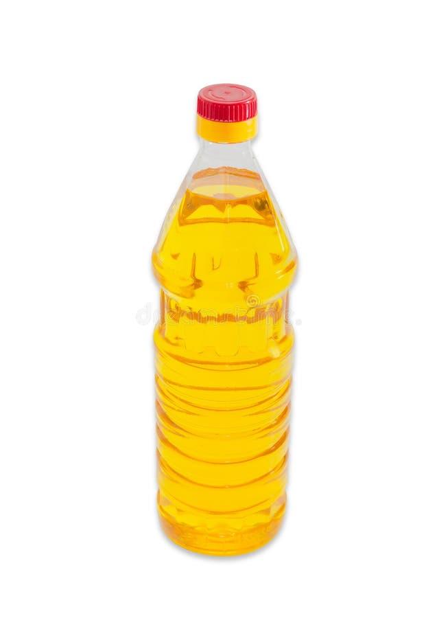 Бутылка unrefined подсолнечного масла на светлой предпосылке стоковое фото