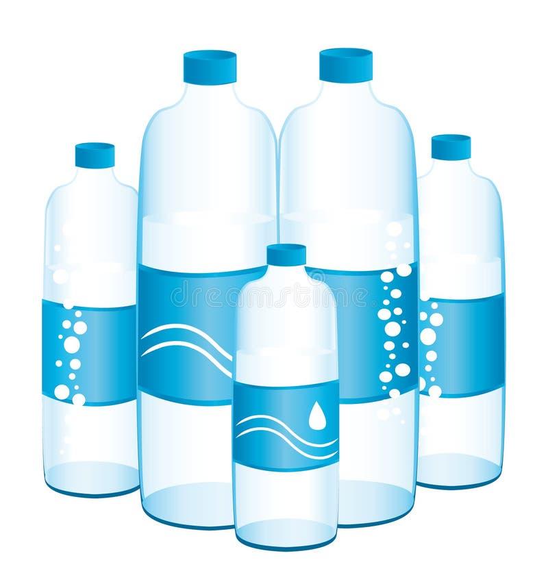 Бутылки воды. бесплатная иллюстрация
